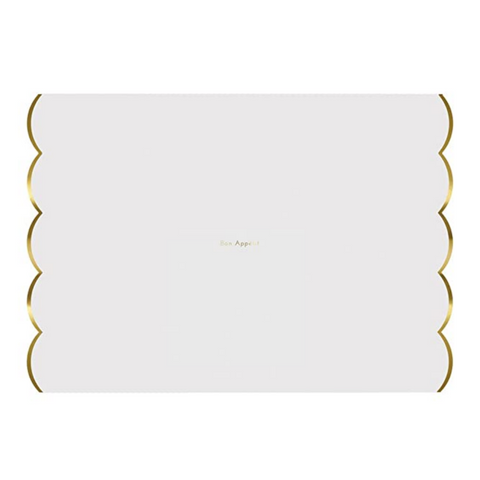 White And Gold Foiled Placemats Bon Appetit
