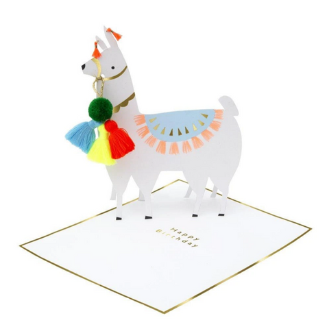 Llama Stand-Up Card -Birthday