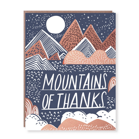 Mountains of Thanks -Thank you