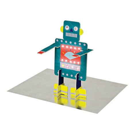 Robot Stand Up Birthday Card -Birthday