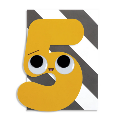 Googly Numbers 5 Years -Birthday