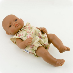 "Romper with Roses: : fits 12"" Miniland Dolls"