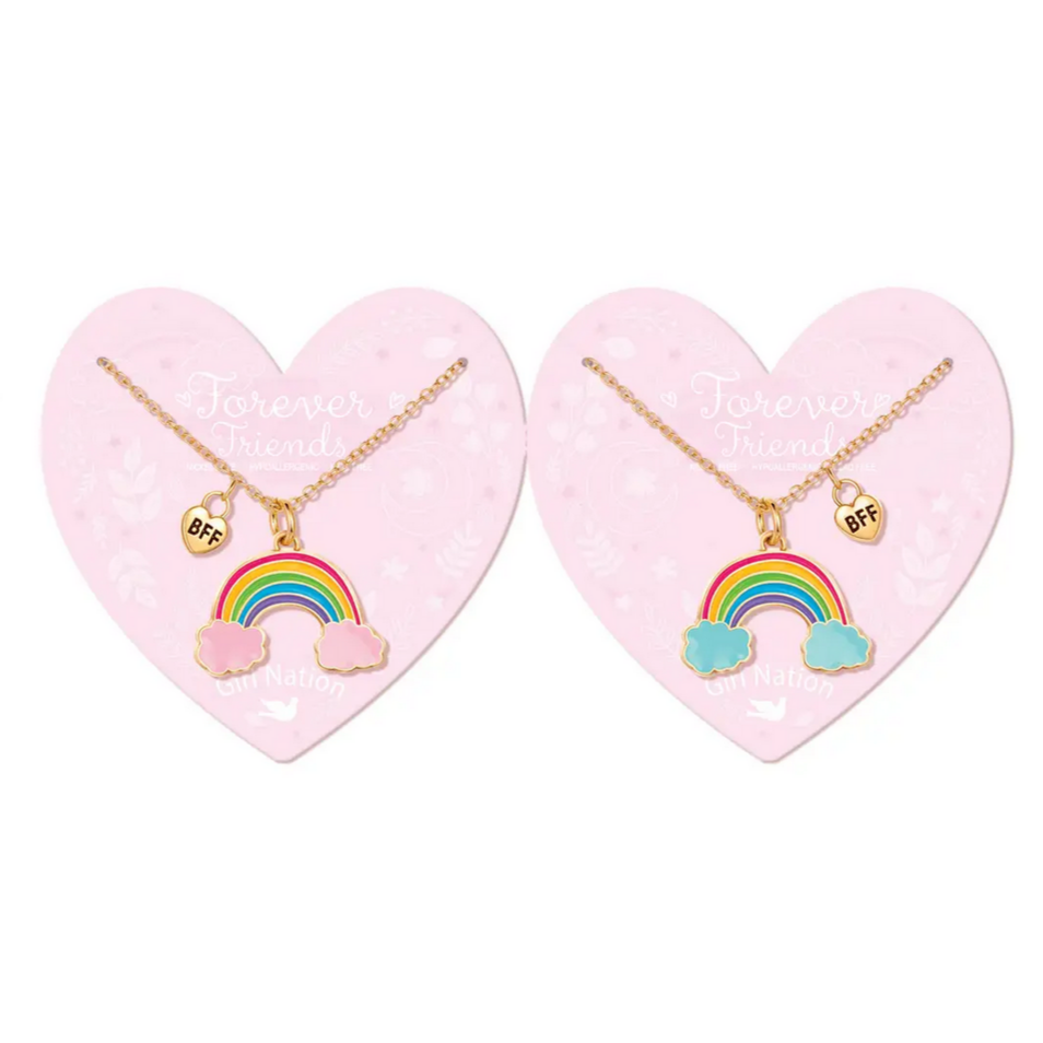 Forever Friends Enamel Necklace - Rainbow Friends