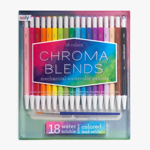Chroma Blends Mechanical Watercolor Pencils -set of 18