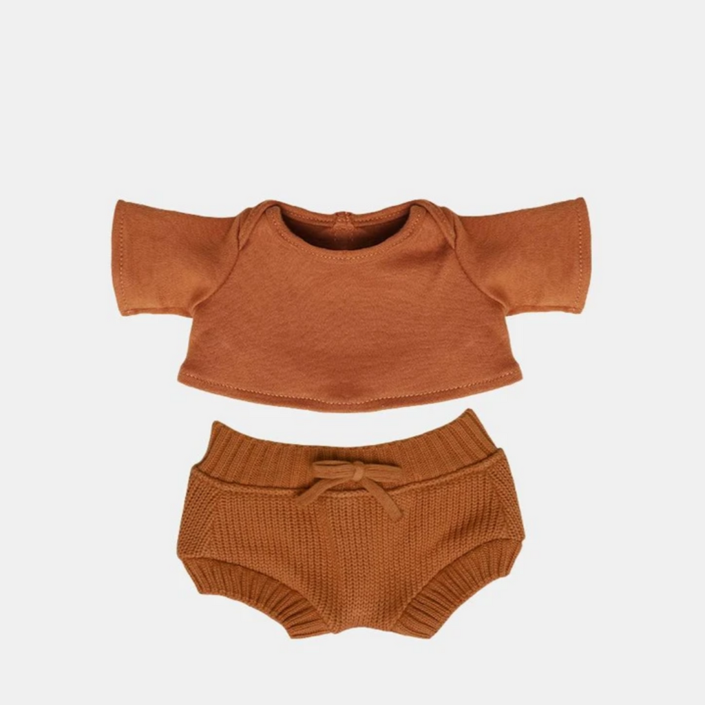 Dinkum Doll Snuggly Set -toffee