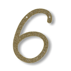 Gold Glitter Alphabet Bunting Numbers