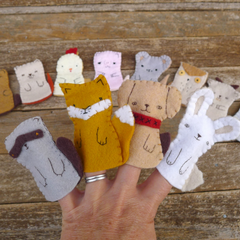 Wool Finger Puppets