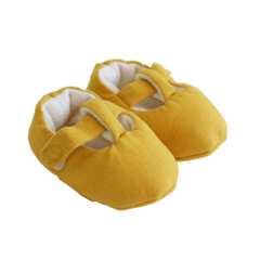 T-Bar Booties -Butterscotch (3-6mos)