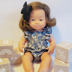 Down Syndrome Girl Doll 15""