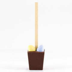 Hot Chocolate on a Stick singles with Easter Eggs  (Belgian Milk)