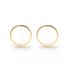 Modern Circle Stud Earrings