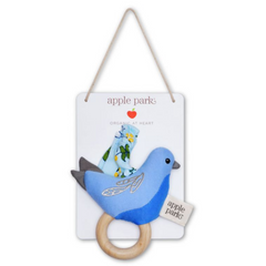 Organic Enchanted Leaves Blue Rattling Stroller Toy & Teether