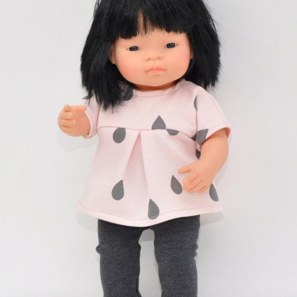 "Cotton Tunic and Leggings: fits 15"" Miniland Dolls"