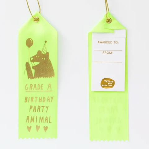 Grade A Party Animal Award Ribbon