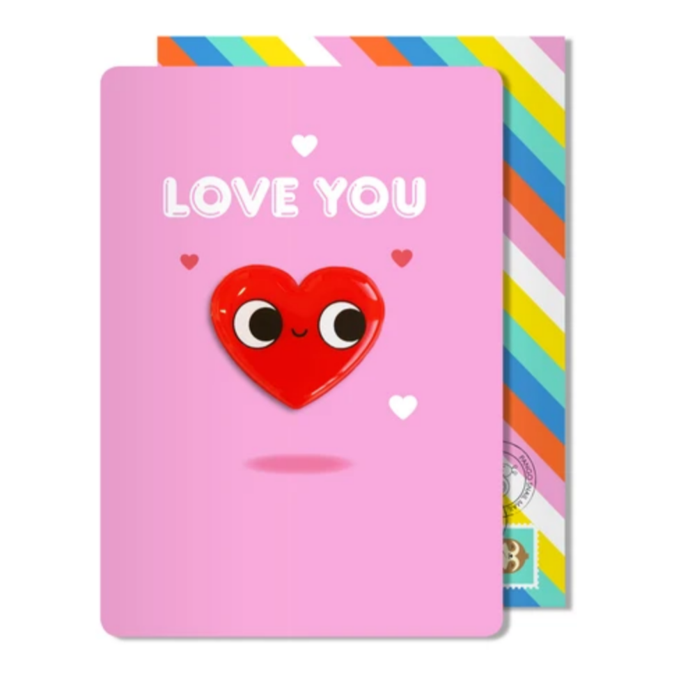 Love You Heart Magnet Card -Love
