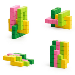 PIXIO Abstract Series TROPIC - 60 Magnetic Blocks in 4 Colors 6yrs+