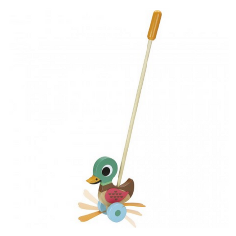 Duck Push Toy by Ingela P. Arrhenius 2yrs+ (store pick-up or san francisco delivery only)