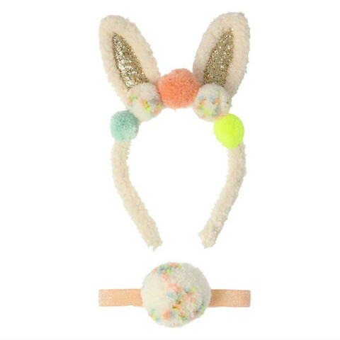 Easter Pompom Bunny Ear Dress Up