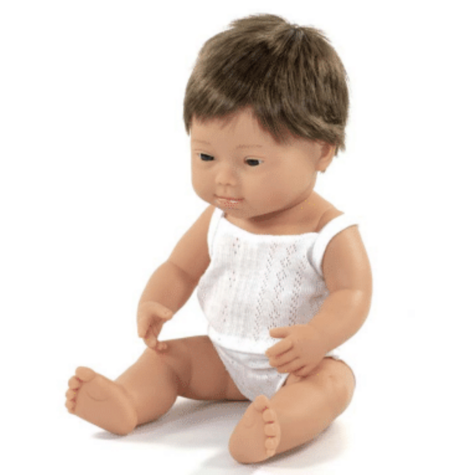 Down Syndrome Boy Doll 15""