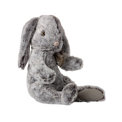 Fluffy Bunny, Large - Grey
