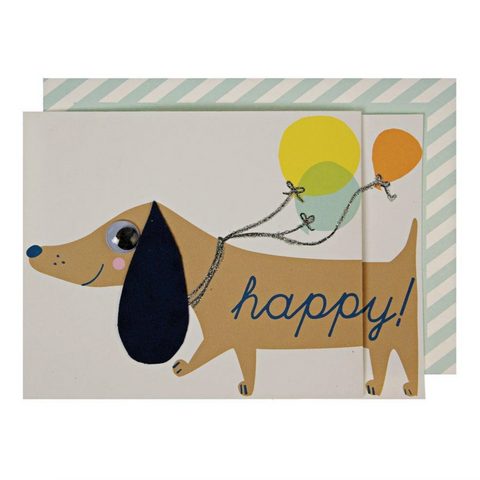 Sausage Dog Concertina Card -Birthday