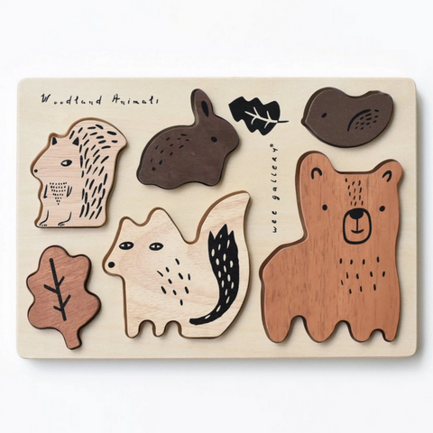 Woodland Tray Puzzle -woodland animals (0-3yrs)