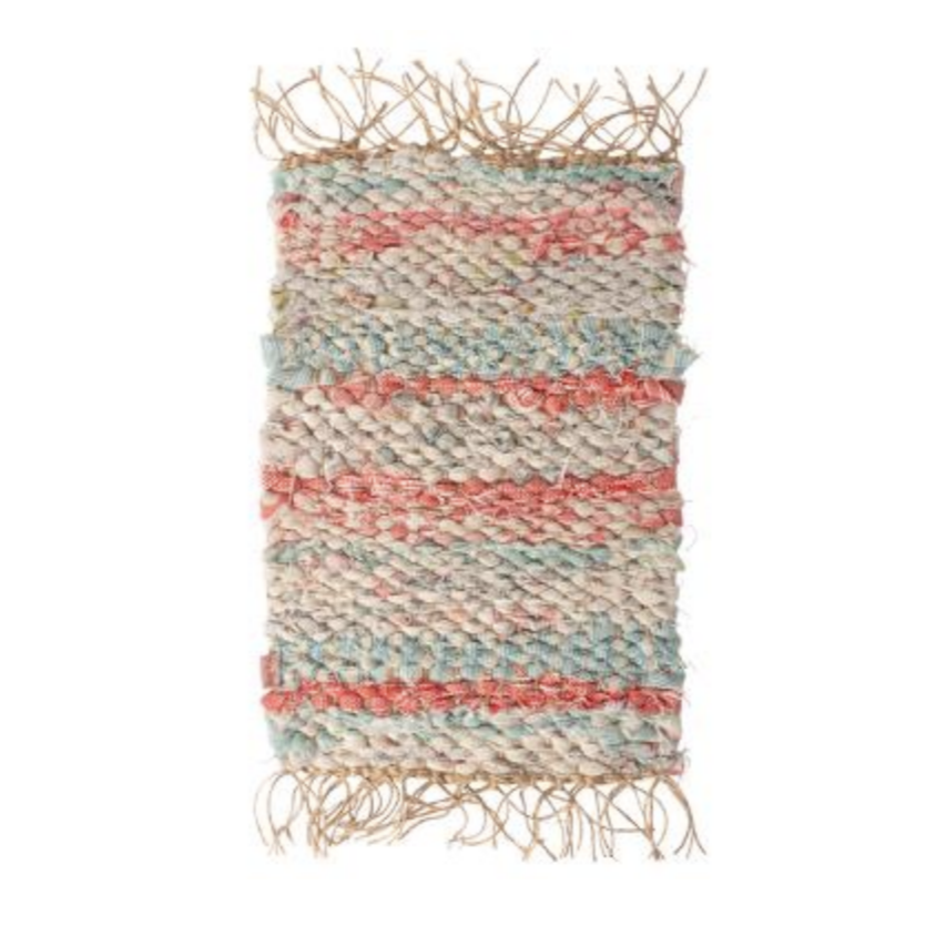Tiny Pastel Woven Rug