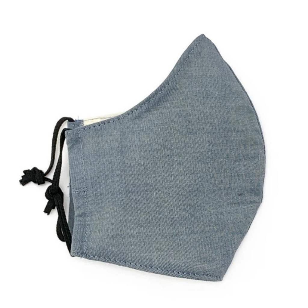 Chambray Fabric Face Mask -kid's sm/med