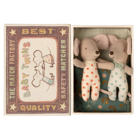 Baby Mice -Twins in Matchbox