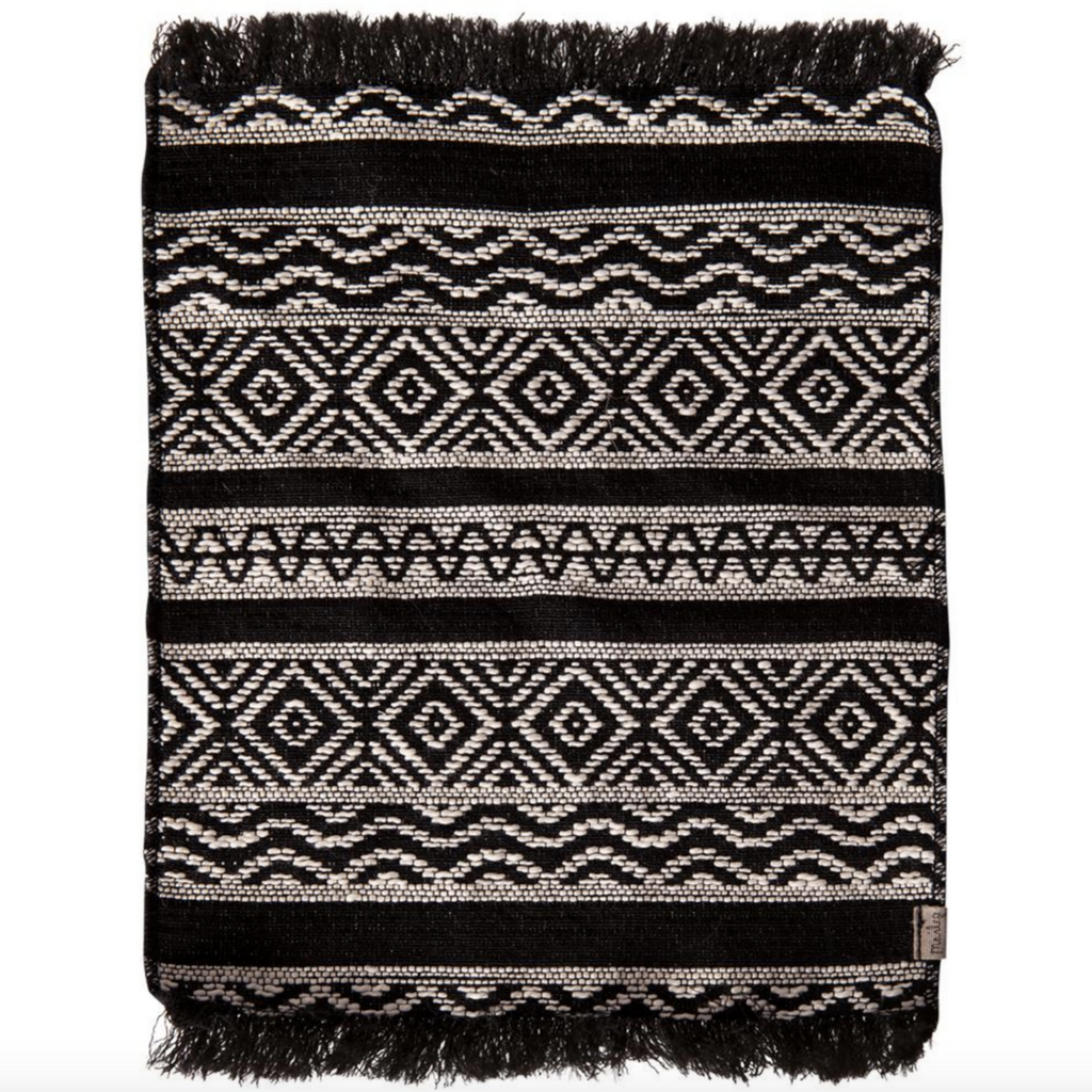 Miniture Black and White Rug