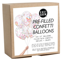Assorted Pre-Filled Confetti Balloons (pk6)