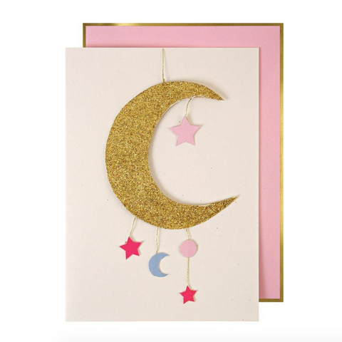 Baby Girl Mobile Greetings Card-Baby