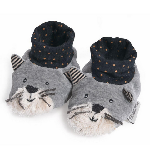 Fernand Light Grey Slippers (0-6mos)