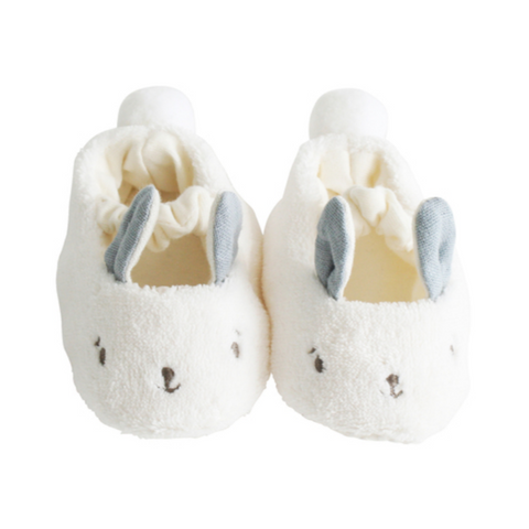 Snuggle Bunny Slippers -Grey (0-6mos)