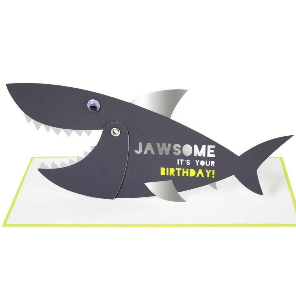 Jawsome Shark Stand-up Card-Birthday