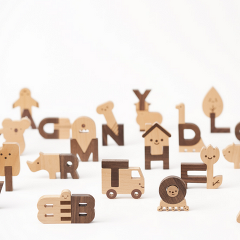 Alphabet Play Block Set by Oioiooi 3+yrs