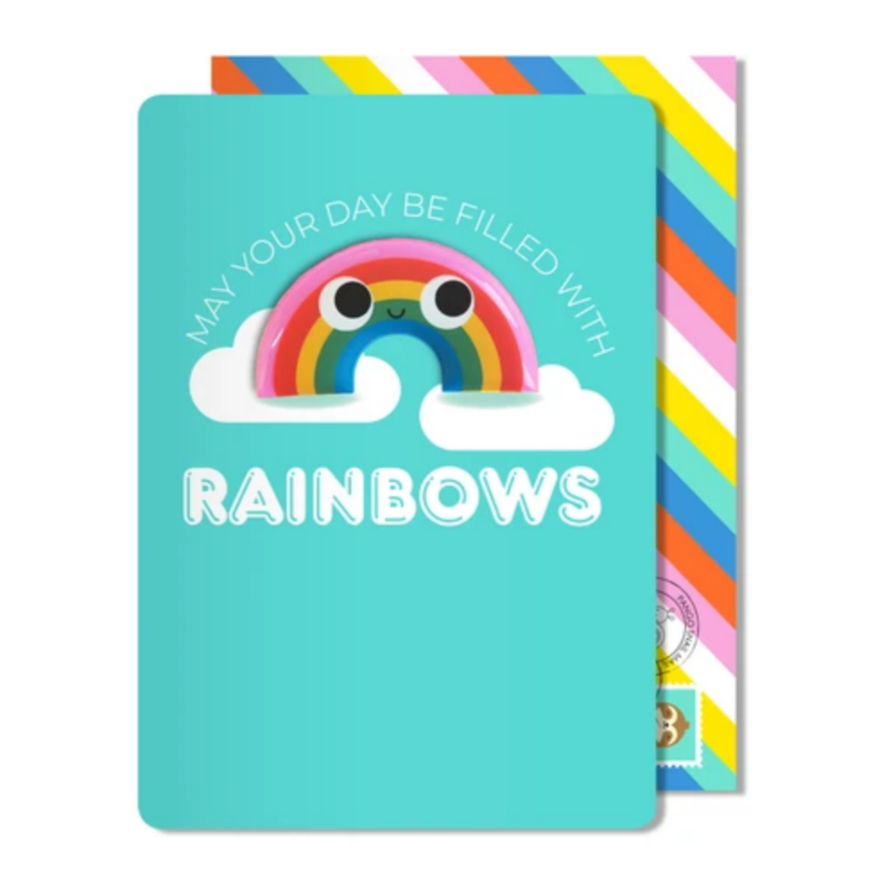 Rainbow Magnet Card -Hello/Birthday