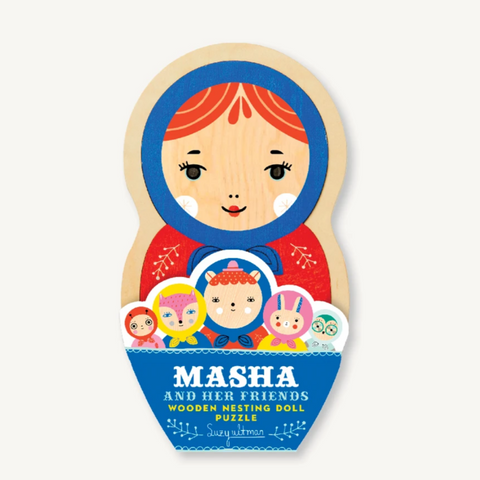 Masha and Her Friends Wooden Nesting Doll Puzzle 5pcs 2yrs+