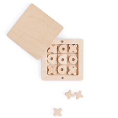 Wooden Tic-Tac-Toe Game Set in a Box on Magnets 3yrs+
