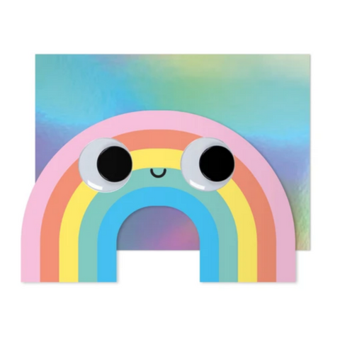 Googly Eye Rainbow Card -Blank