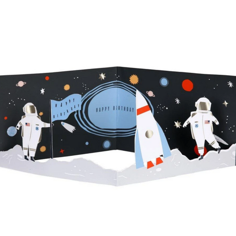 Concertina Space Card-Birthday
