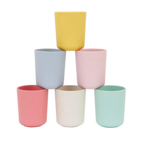 Mixed Set Bamboo Fiber Cups