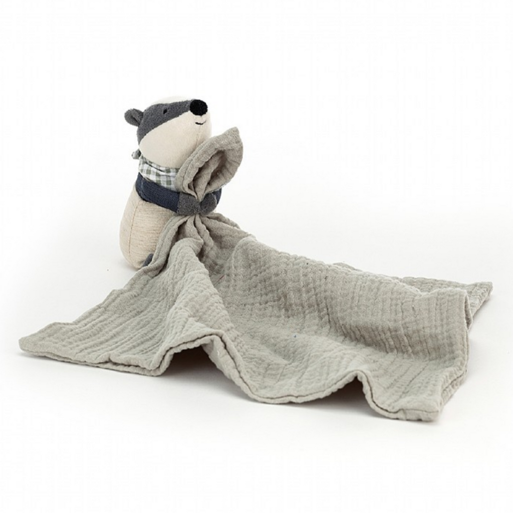 Jellycat Little Rambler Badger Soother Lovie