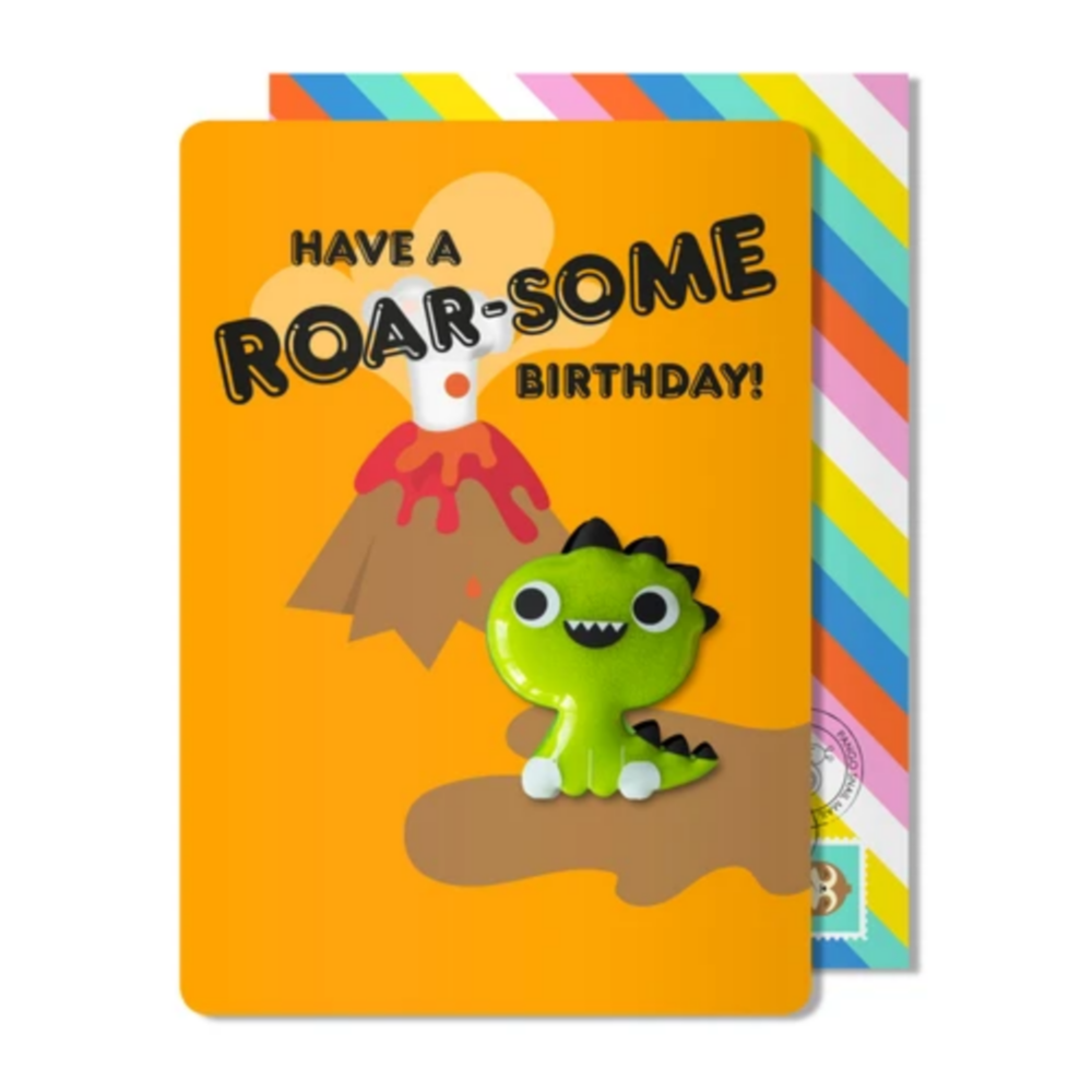 Birthday Dino Magnet Card -Birthday
