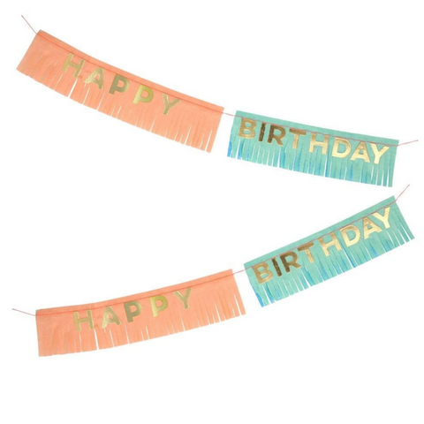 Birthday Fringe Garland Card-Birthday