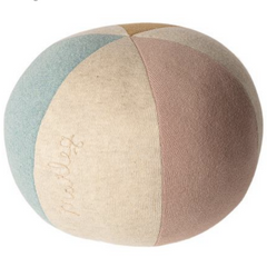 Ball Cushion- Light Blue/Rose