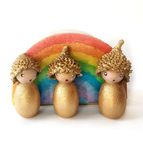 Set of Acorn Pocket Dolls