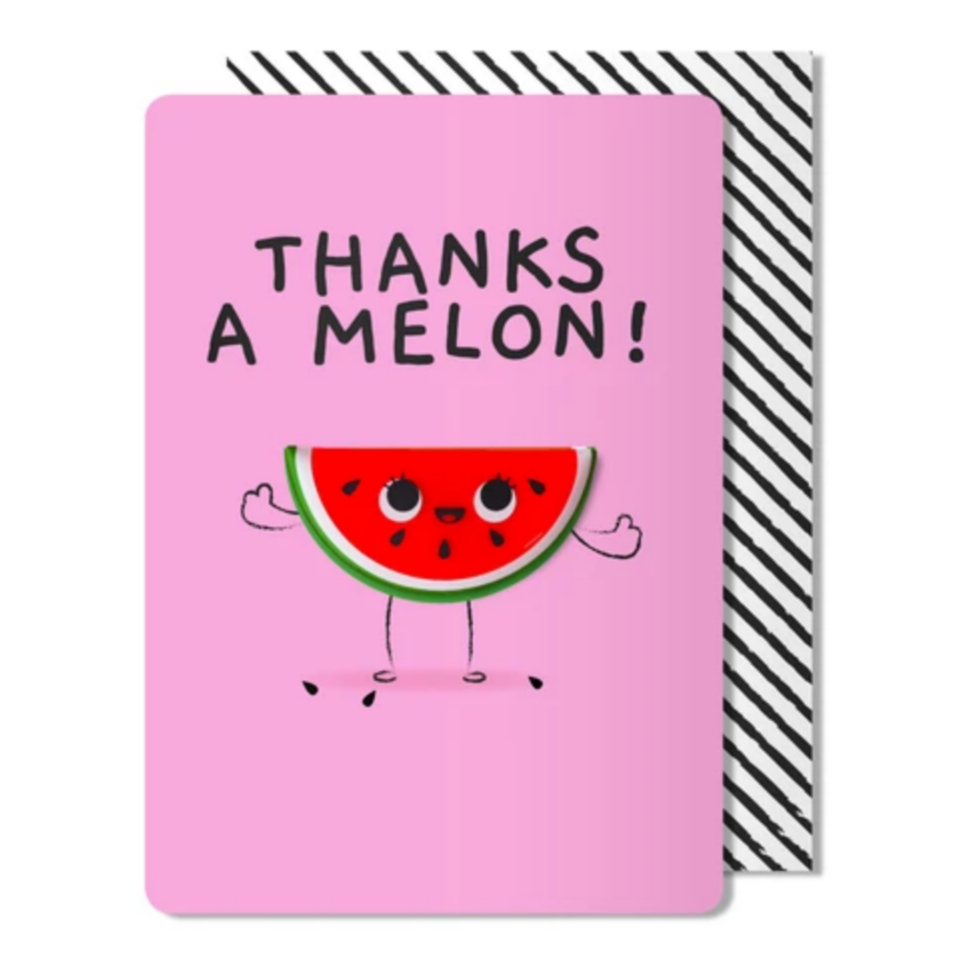 Thanks a melon Magnet Card -Thank You