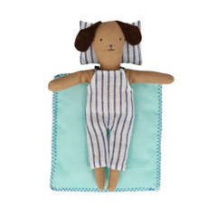 Stripy Puppy Mini Suitcase Doll