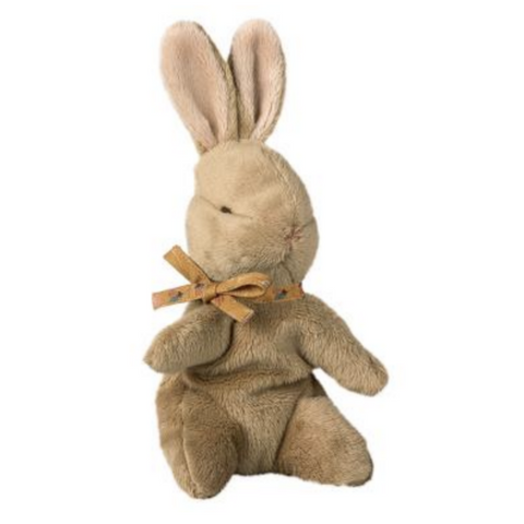 Baby Bunny with Ochre Ribbon